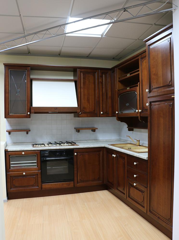 Cucina componibile angolare NOCE SCURO - Paternoster Home