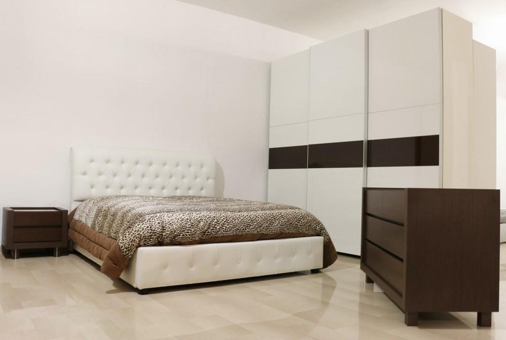 Camera da letto in stile moderno BIANCO LUCIDO-WENGE\' - Paternoster Home