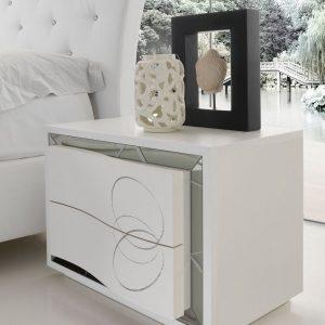 Cecchini Camere Da Letto.Camera Da Letto In Stile Moderno Bianco Frassinato Con Specchi