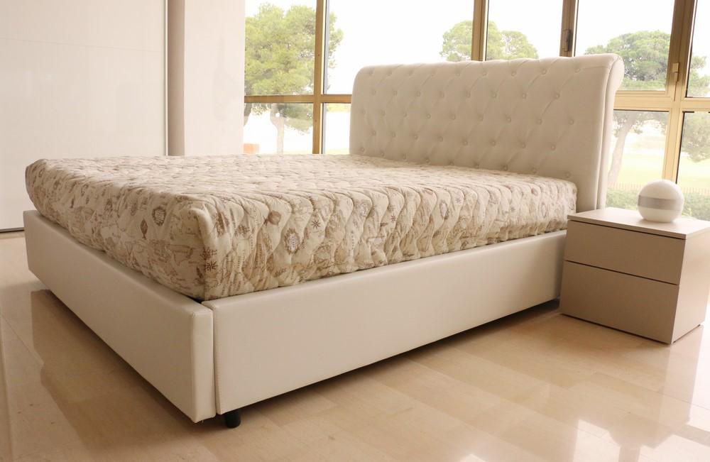 Emejing letto contenitore ecopelle contemporary for Lamantin letti