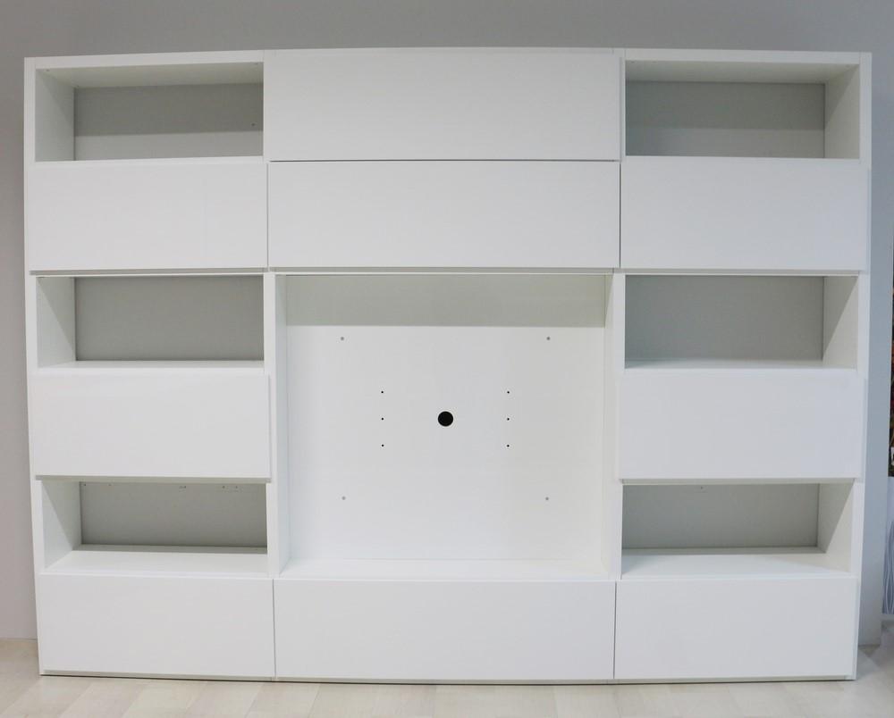 Parete soggiorno in stile moderno BIANCO LUCIDO - Paternoster Home