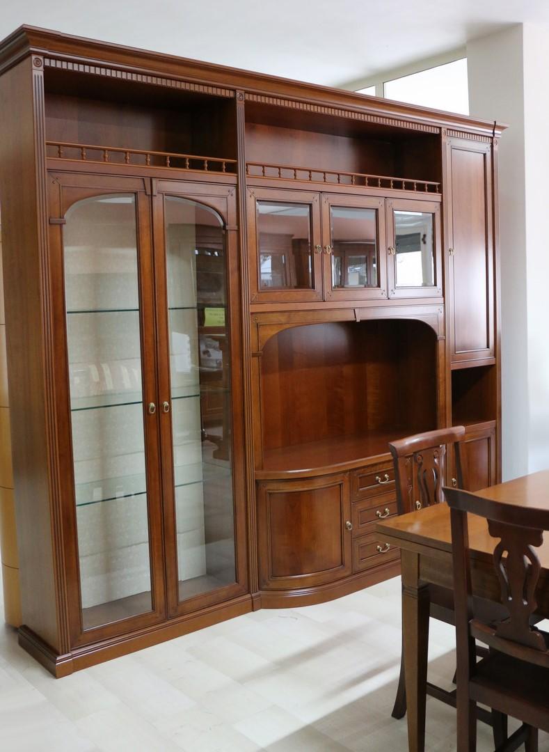 Parete soggiorno in stile classico NOCE SCURO - Paternoster Home