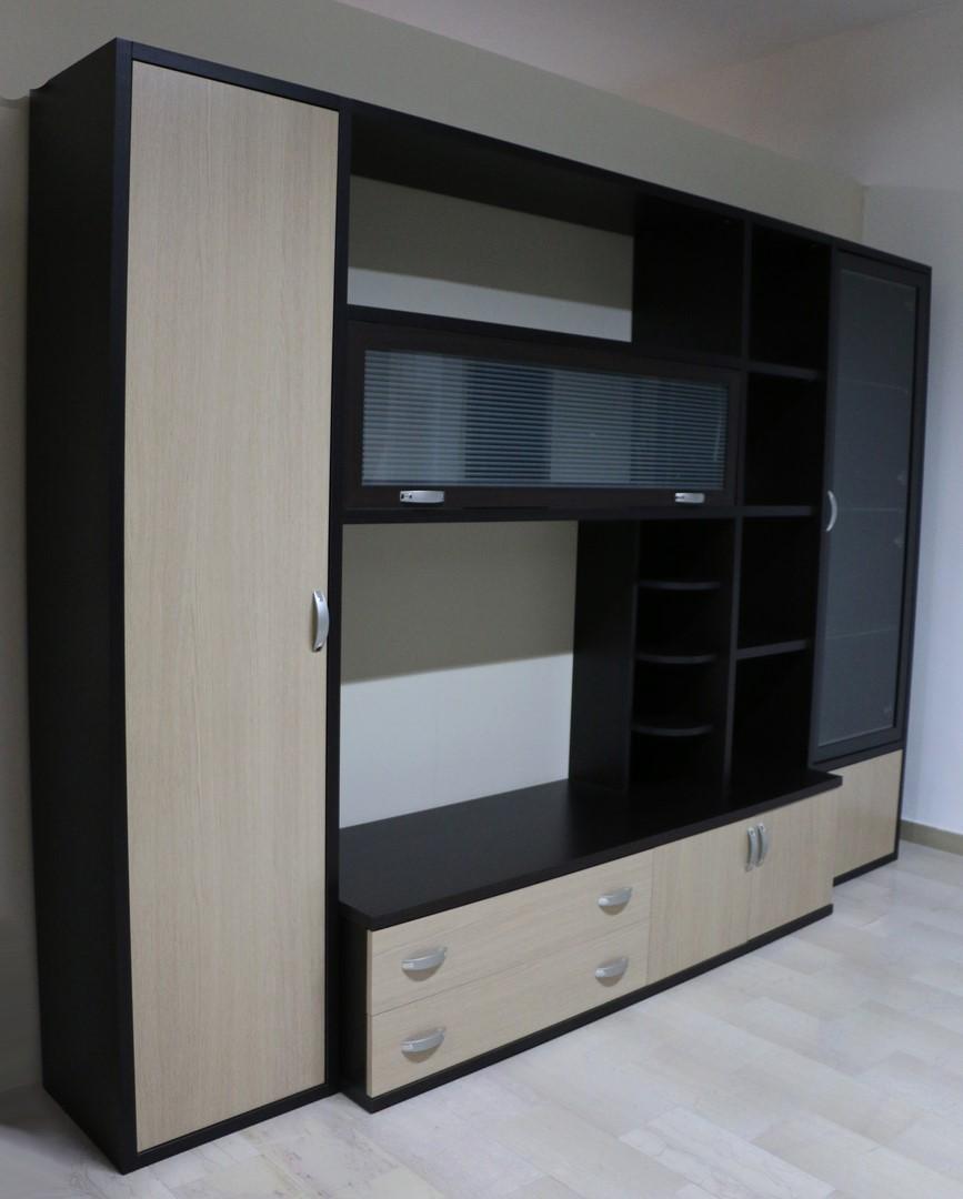 Parete soggiorno in stile moderno WENGE\'-ROVERE - Paternoster Home