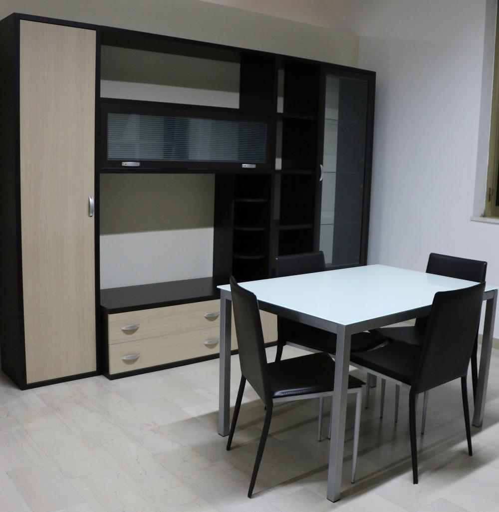 Parete soggiorno in stile moderno WENGE\'- ROVERE - Paternoster Home