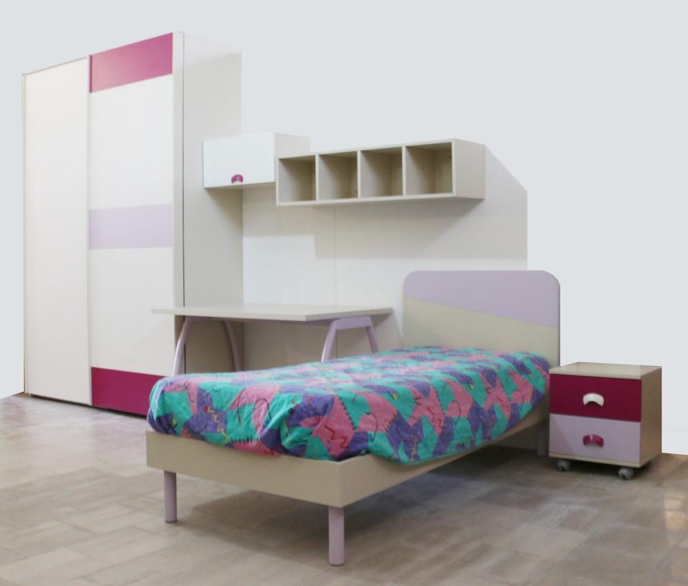 Cameretta In Stile Moderno Bianco Glicine Viola Paternoster Home