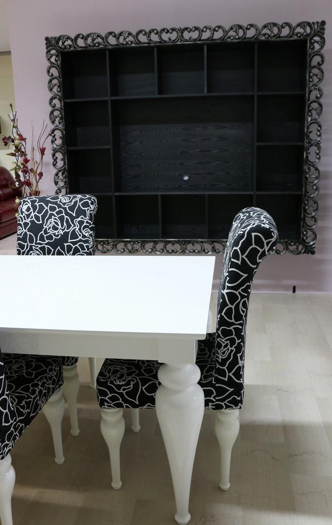 Parete soggiorno in stile contemporaneo BIANCO LACCATO LUCIDO ...