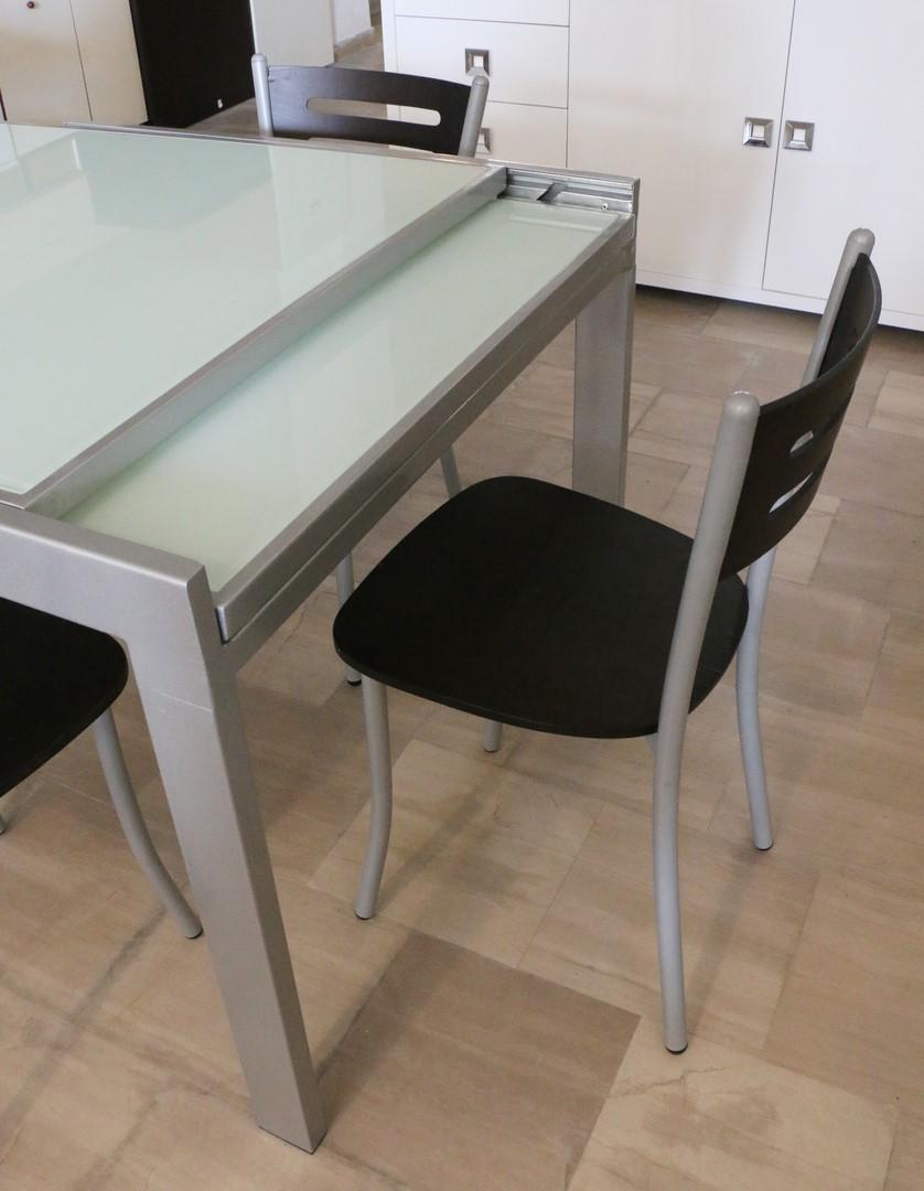 Tavoli Allungabili Moderni Outlet.Tavolo Allungabile In Metallo Rovere Moro Alluminio Paternoster Home