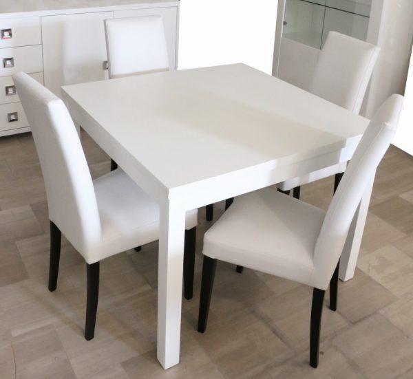 Tavolo Bianco Moderno.Tavolo Apribile Stile Moderno Bianco Frassinato