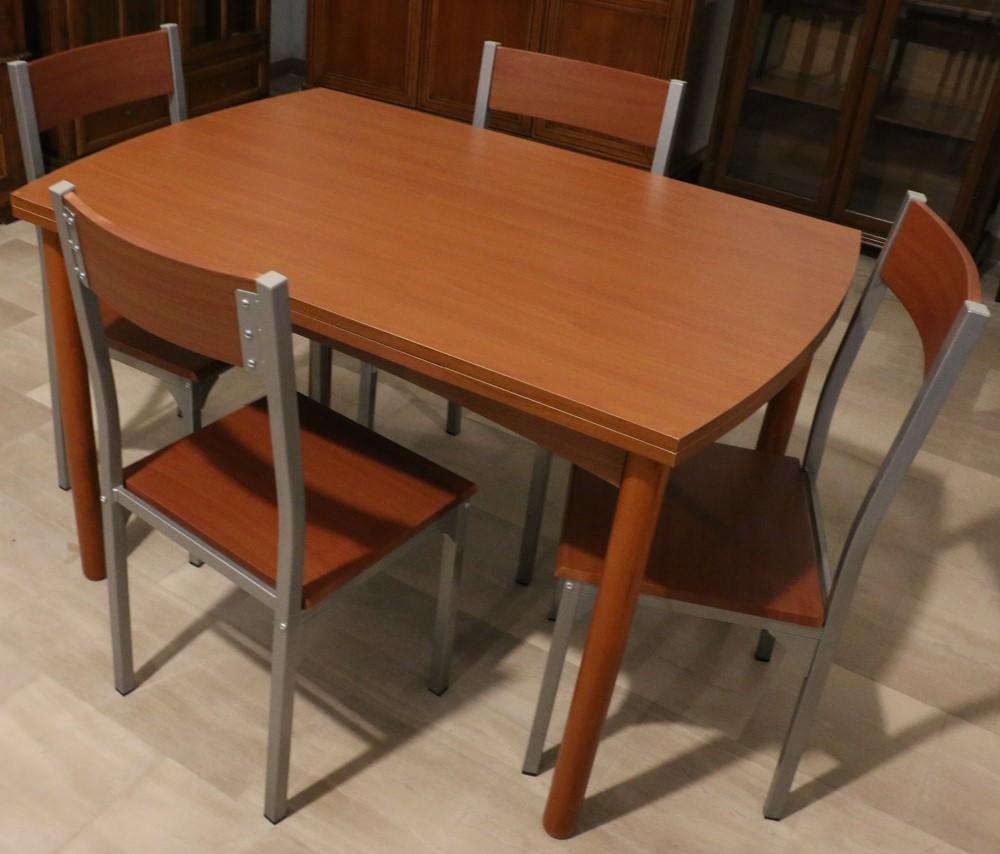 Tavolo allungabile in legno laminato CILIEGIO