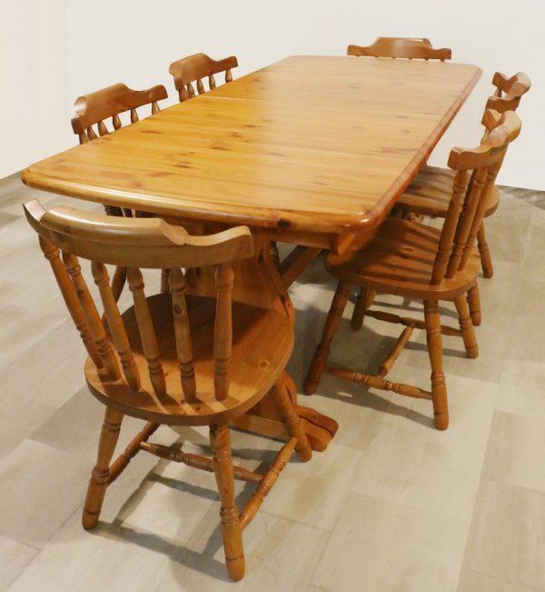 Tavolo allungabile stile rustico LEGNO DI PINO