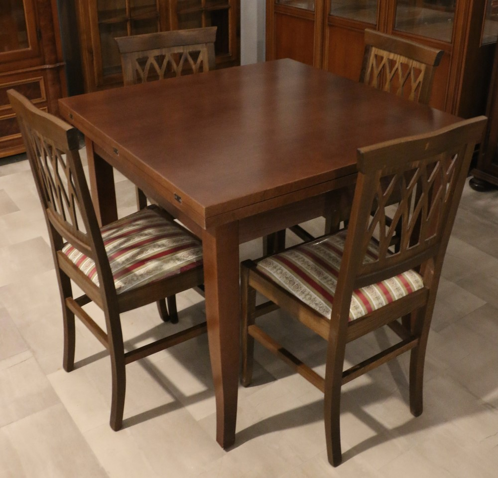 Tavolo apribile in legno stile classico NOCE SCURO - Paternoster Home