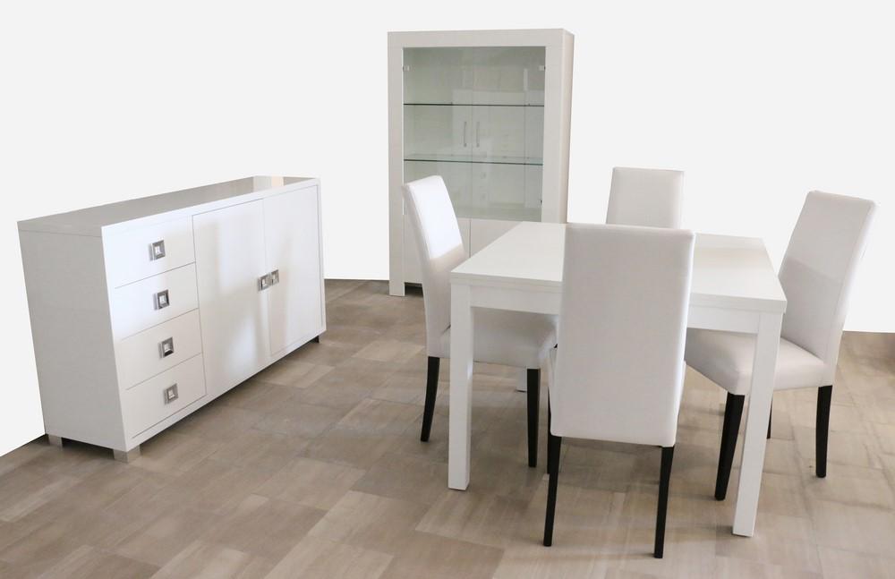 Credenza Per Tavernetta : Vetrina soggiorno in stile moderno bianco a poro aperto e lucido