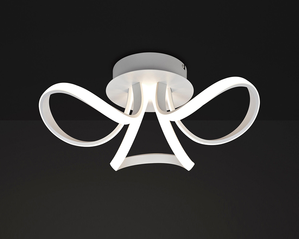 Plafoniere Led A Soffitto Moderno Dimmerabile : Knot led 3 plafoniera paternoster home