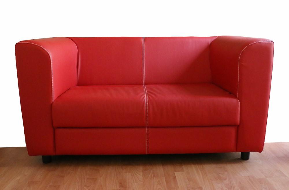 Divano Letto In Ecopelle Rosso.Divano 2 Posti Stile Moderno In Ecopelle Paternoster Home