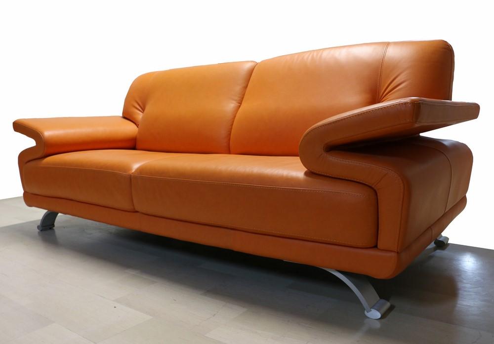 Divano Pelle Arancione : Divano posti maxi stile moderno in pelle paternoster home