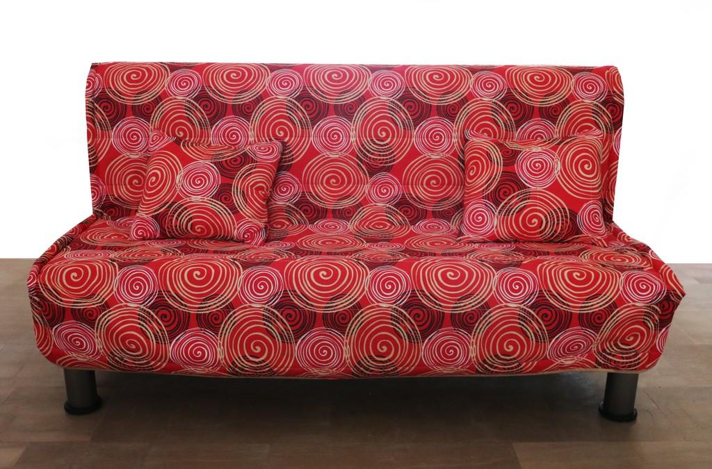 Divano Letto In Stile.Divano Letto Stile Moderno In Tessuto Sfoderabile Rosso