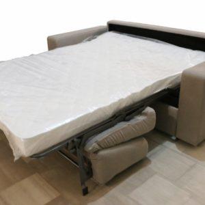 Divano-letto 2 posti maxi in tessuto panna - Paternoster Home