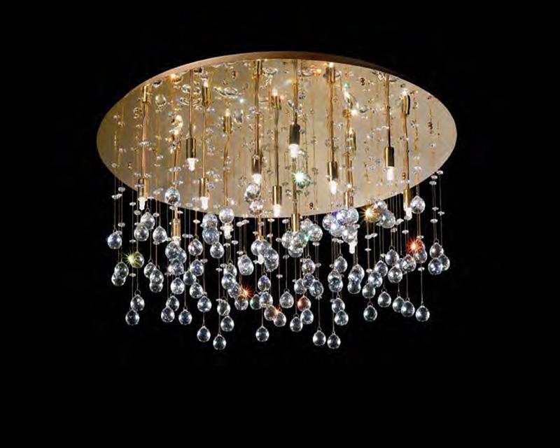Plafoniere Acciaio E Cristallo : Lampadario plafoniera cristallo: dst moderno a spirale in