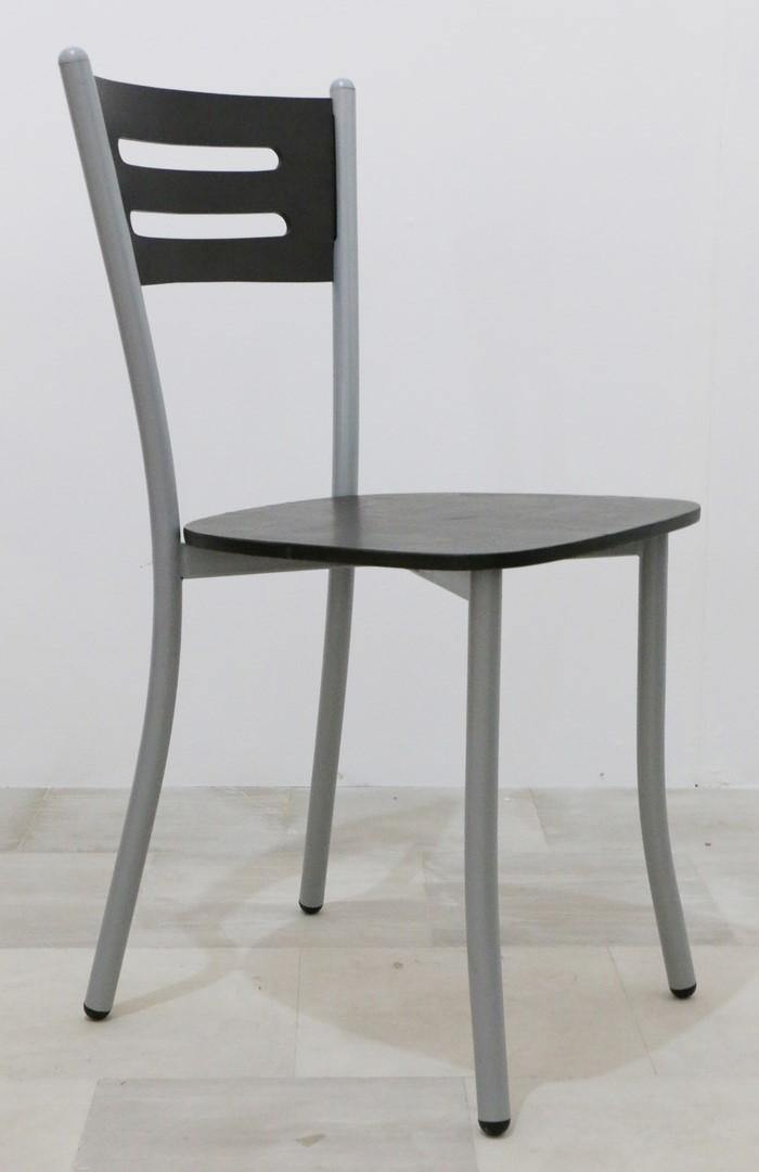 Sedie In Ferro E Legno.Sedia In Stile Moderno Alluminio E Rovere Moro Paternoster Home