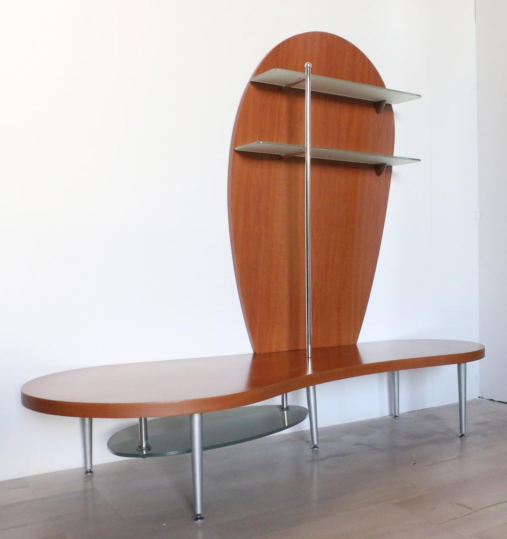 Porte Con Vetro Satinato porta tv in legno in stile moderno