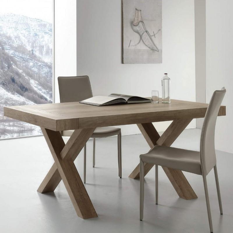 tavolo allungabile stile moderno rovere nodato