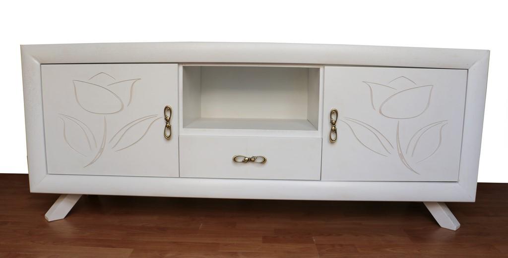 Mobili Porta Tv Stile.Mobile Porta Tv In Stile Contemporaneo Bianco Spazzolato