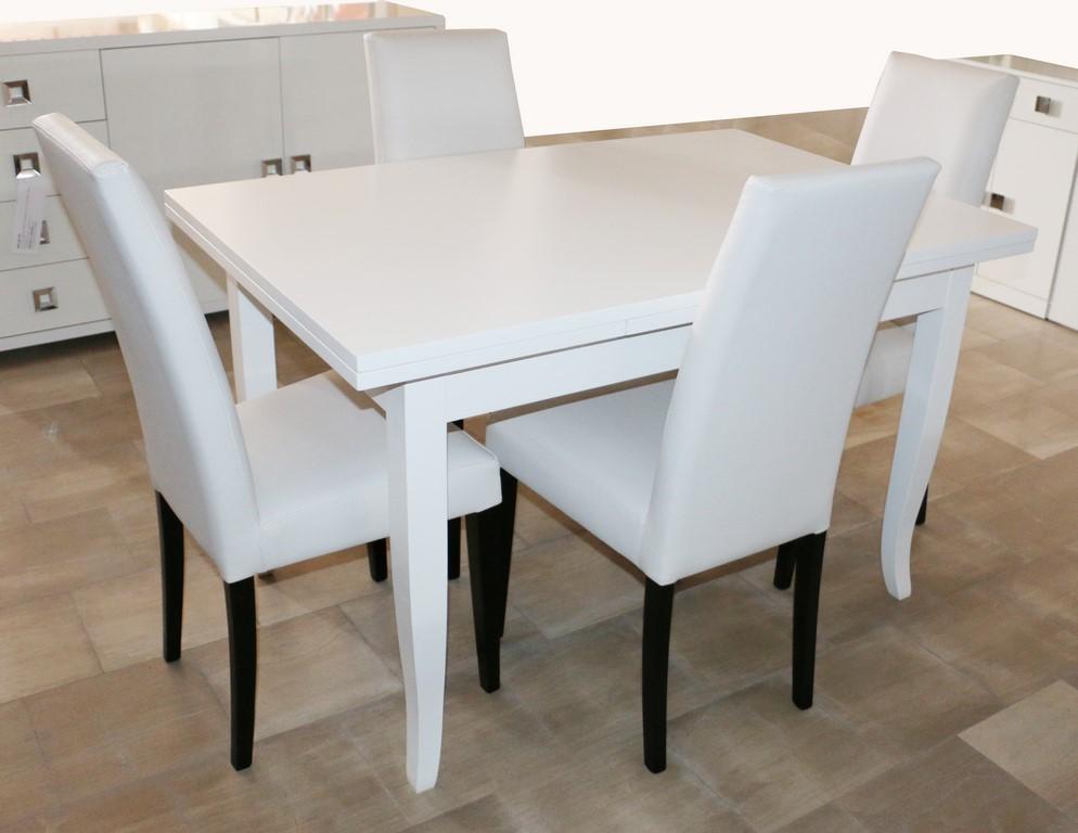 Tavolo apribile stile moderno BIANCO FRASSINATO